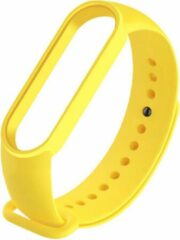Poqlo Band voor smartwatch Mi Band 3 y 4 - Vervanging - Horlogeband - Armband - Geel
