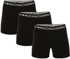 Muchachomalo - Basis Collectie Jongens Boxershorts - 3-PACK - Zwart/Zwart/Zwart - 134/140