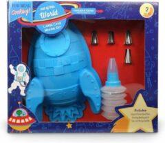 Blauwe Handstand Kitchen Space Shuttle Bakvorm Set
