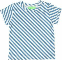 Blauwe Lily Balou Baby Tshirt Kas Diagonal Stripes - 56