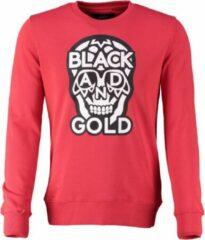Rode Black and gold sweater biglogos - Maat XXL