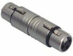 Zilveren Neutrik NA3FF XLR adapter XLR socket - XLR socket 1 pc(s)