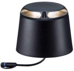 Verlichtingssysteem Plug&Shine LED-vloerinbouwlamp 3 W Warm-wit Paulmann 93917 Antraciet Set van 2 Lichtuittrede indirect