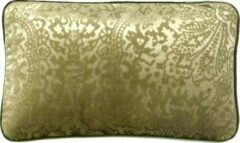 A&E Originals - Kussen groen Flower velvet - 30 x 50 cm