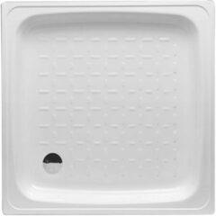 Witte Go by Van Marcke Douchebak VM Isifix 80x80x15cm Plaatstaal Vierkant Voor Inbouwmontage
