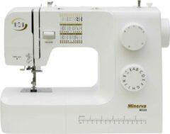 Minerva M320 - vrije arm naaimachine - 34 steek programma's en accesoires - Wit