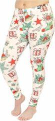 ZUMPREMA Foute kerst legging - Beige Xmas
