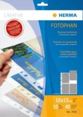 Herma 7695 postkaarthüllen van transparanter folie 10x15 (wpk) 10 st.