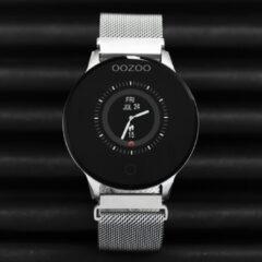 OOZOO Smartwatch Q00116 Mesh staal zilverkleurig-zwart Hartslagmeter 43 mm