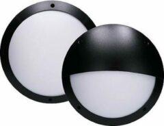 EGB LED Buitenlamp - Zwart - Rond - E27-fitting - IP66 - IK10 - met 2 afdekkingen