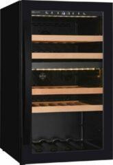 Zwarte Wine Klima Excellence D40 wijnklimaatkast - 40 flessen - dubbele zone
