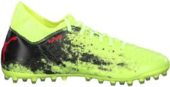 Fußballschuhe Future 18.3 MG mit Spandex-Fersen-Konstruktion 104322-01 Puma Fizzy Yellow-Red Blast-Puma Black