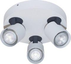 Antraciet-grijze Artdelight - Plafondlamp Vivaro 3L Rond - Wit / Antraciet - 3x LED 4,9W 2200K-2700K - IP20 - Dim To Warm