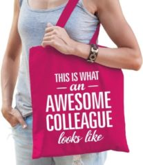 Shoppartners Kadotas This is what an awesome collaegue looks like roze katoen - cadeautas voor collega's