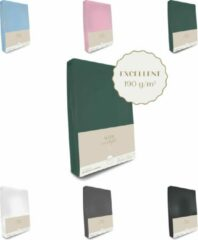 Sleep in Style Excellent Jersey Hoeslaken voor peuterbed 70x160 -70x180cm (t/m 15 cm hoekhoogte) 190 grams/m2 kwaliteit kleur Donker Groen OEKO-TEX 100 certificeert