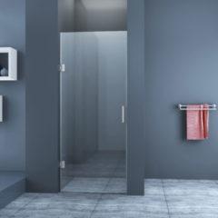 Douche Concurrent Douchedeur Nisdeur Draaideur 90x200cm Antikalk Helder Glas Chroom Profielloos 8mm Veiligheidsglas Easy Clean