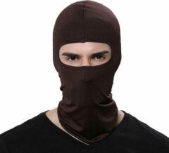 AA Commerce Balaclava Helmmuts - Motor Onderkleding Bivakmuts - Winter Muts Face Mask Nek Warmer Masker - Bruin