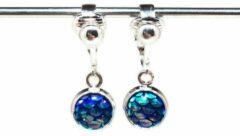 MNQ bijoux - Clipoorbellen - Oorclips - Kind - Meisjes - Zeemeermin - Blauw - Hangoorbellen