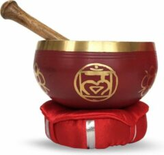 Rode Green Tree Candle Company Brass Singing Bowl with stick & Cusion 10 cm Base Chakra