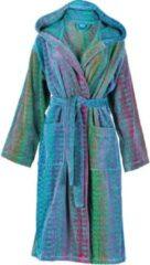 Blauwe Elaiva badjas met capuchon Ocean Magic groen - Maat S