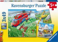 Ravensburger puzzel Vliegtuigen - Drie puzzels - 49 stukjes - kinderpuzzel