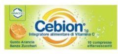 CEBION EFFERVESCENTE VITAMINA C SENZA ZUCCHERi 10 compresse 10CPR Integratore alimentare BRACCO