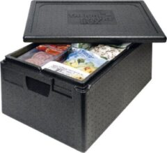 Zwarte Thermo Future Box Thermobox ( cateringbox) - 1/1 GN premium 33 cm