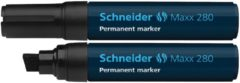 Schneider Maxx 280 128001 Permanent marker Zwart Watervast: Ja
