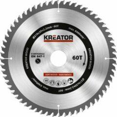Kreator KRT020422 Zaagblad hout 210 mm - 60T