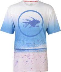 Blauwe Hot Tuna T-Shirt all over print - maat XXL - Heren - Strand print