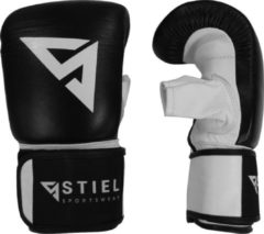 Stiel Sports Stiel Zakhandschoenen Leer - Zwart Wit