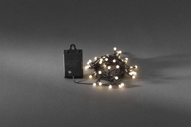 Afbeelding van Konstsmide 3740-100 Lichtketting met batterijen Buiten werkt op batterijen 40 LED Warm-wit Verlichte lengte: 3.12 m