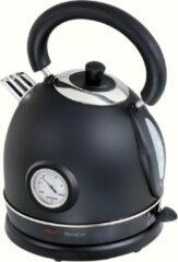 DOMOCLIP DOD157N Retro waterkoker met thermometer - zwart
