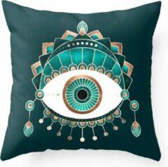 Moodadventures | Kussens | Turquoise Eye | 45x45 cm.