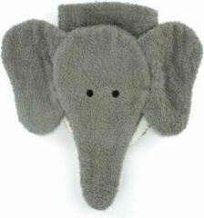 Grijze Furnis 100% biologisch washandje olifant kind