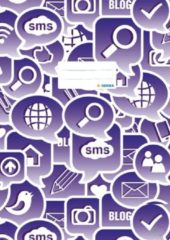 Schriftkaft Herma A4 Social Icons violet