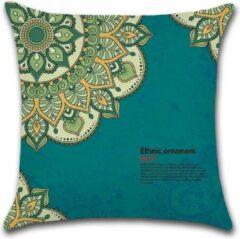 Turquoise By Javy Kussenhoes Marrakech - Blauw - Kussenhoes - 45x45 cm - Sierkussen - Polyester