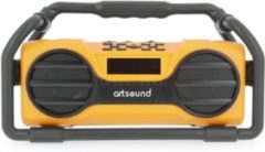 ArtSound U6, oplaadbare digitale all-round radio, geel