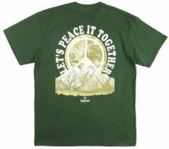 Donkergroene Dravus Peace it T-Shirt groen