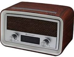 Soundmaster UR190 DAB+/UKW Uhrenradio, Digitalradio, LCD, verschiedene Farben Farbe: Dunkelbraun