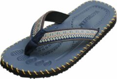 Marineblauwe Yoga sandalen mannen - navy blue 44 Slippers YOGISTAR