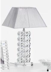 Fantin Argenti Lampada da tavolo in cristallo DIAMANTE diametro H64 cm con paralume 38x38 cm