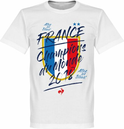 Afbeelding van Retake Frankrijk Champion Du Monde 2018 T-Shirt - Wit - XXL