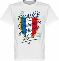 Retake Frankrijk Champion Du Monde 2018 T-Shirt - Wit - XXL
