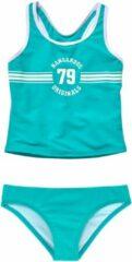 Blauwe KangaROOS tankini Sporty met sportieve frontprint