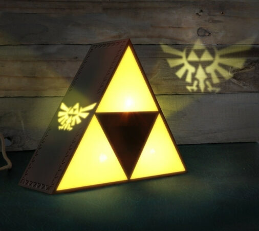 Afbeelding van Mesco Toys Paladone Tri-Force Light decoration figure Zwart, Geel