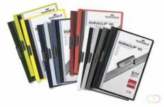 DURABLE Klemmap Duraclip A4 Geel Polyvinylchloride (PVC) Voor 60 bladen