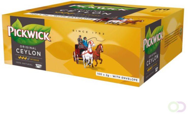 Afbeelding van Thee Pickwick Ceylon 100 zakjes van 2gr met envelop