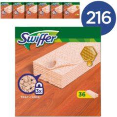 Roze Swiffer Sweeper Parket Navulling - Voordeelverpakking 216 Stuks (6x16) - Vloerdoekjes