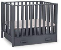 Antraciet-grijze Childhome Childwood Park 94 Beukenhouten baby box - 75x95 cm - Antraciet